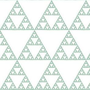 Sierpinski Triangle - green on white