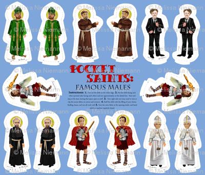 Pocket Saints: Famous Males