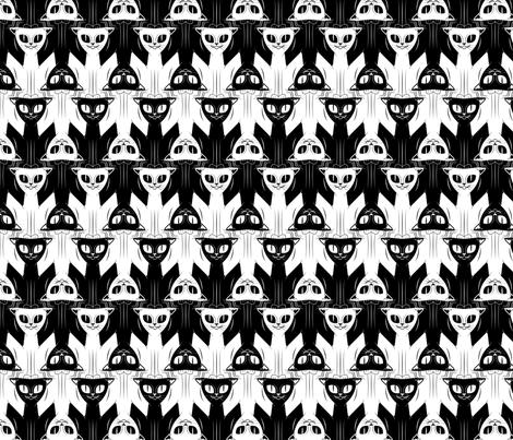 Cat Tessellation fabric by elusiveillusion on Spoonflower - custom fabric