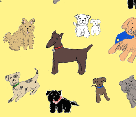 DoodledDogsFabric fabric by joofalltrades on Spoonflower - custom fabric