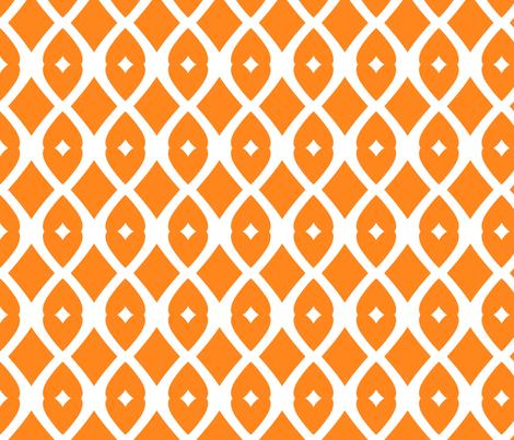 Chain Link 22 (orange) fabric by pattyryboltdesigns on Spoonflower - custom fabric