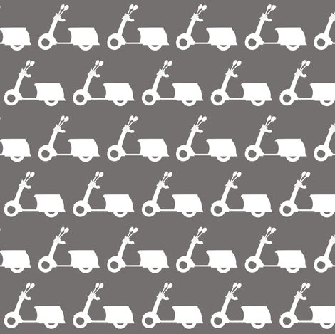 Scooters on Grey fabric by natitys on Spoonflower - custom fabric