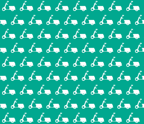 Scooters on Mint Green fabric by natitys on Spoonflower - custom fabric