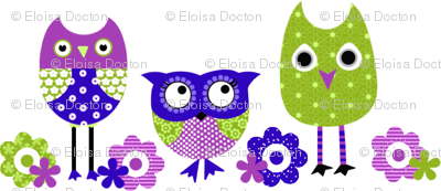 Whimsy Owls Blues