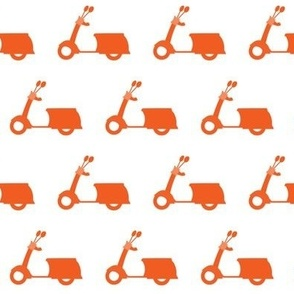 Tangerine Scooters On White