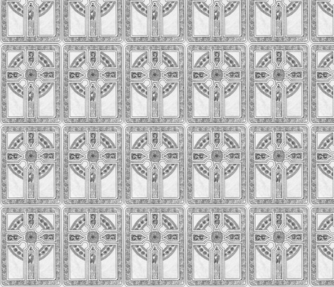 Celtic Cross fabric by flyingfish on Spoonflower - custom fabric