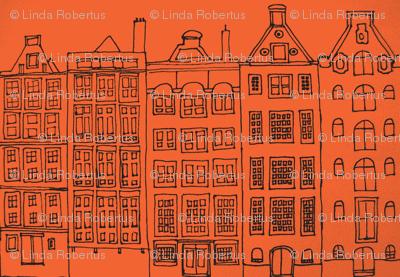 DutchHouses black on orange white-ch