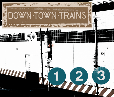 Downtown Trains fabric by nestahome on Spoonflower - custom fabric