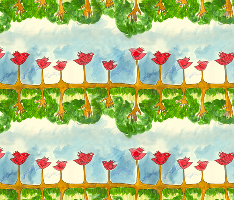 RootsWings fabric by narthex on Spoonflower - custom fabric