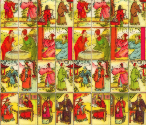 Butterfly Lovers fabric by feebeedee on Spoonflower - custom fabric