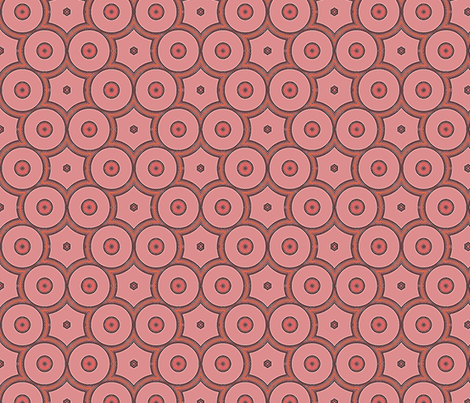 Bold Peach Apricot Circles © Gingezel™ 2012 fabric by gingezel on Spoonflower - custom fabric