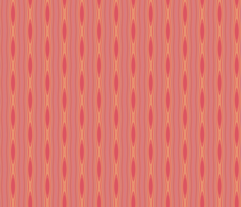 Apricot Mango Stripe with Ovals © Gingezel™ 2012 fabric by gingezel on Spoonflower - custom fabric