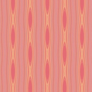 Apricot Mango Stripe with Ovals © Gingezel™ 2012