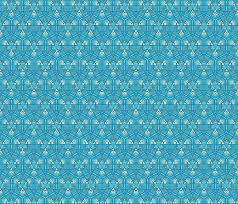 Aqua Hexagons © Gingezel™ 2012 fabric by gingezel on Spoonflower - custom fabric