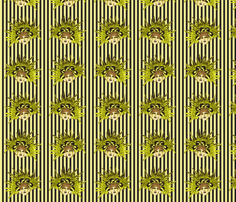 Belle Epoque Innit Yellow! fabric by lovekittypink on Spoonflower - custom fabric