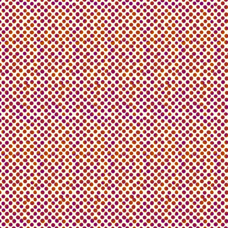 Small Magenta and Orange Dots fabric by fig+fence on Spoonflower - custom fabric