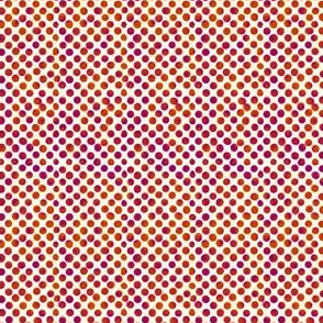 Small Magenta and Orange Dots