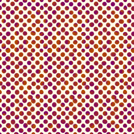 Large Magenta and Orange Dots fabric by fig+fence on Spoonflower - custom fabric