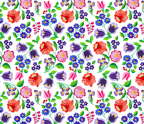 Summer_Garden fabric by andrea11 on Spoonflower - custom fabric