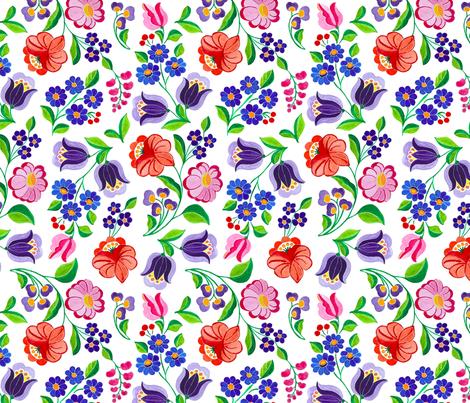 Summer_Garden fabric by andrea11 on Spoonflower - custom fabric