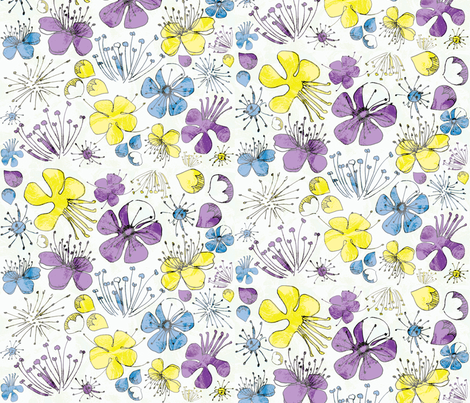 Spring Blossoms fabric by majobv on Spoonflower - custom fabric