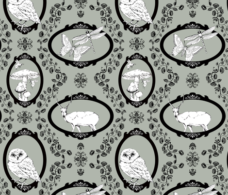 Woodland Enchantment - Silver Haze fabric by uzumakijo on Spoonflower - custom fabric