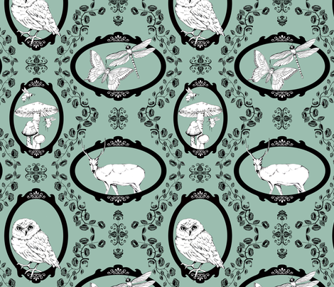 Woodland Enchantment - Artemisia fabric by uzumakijo on Spoonflower - custom fabric
