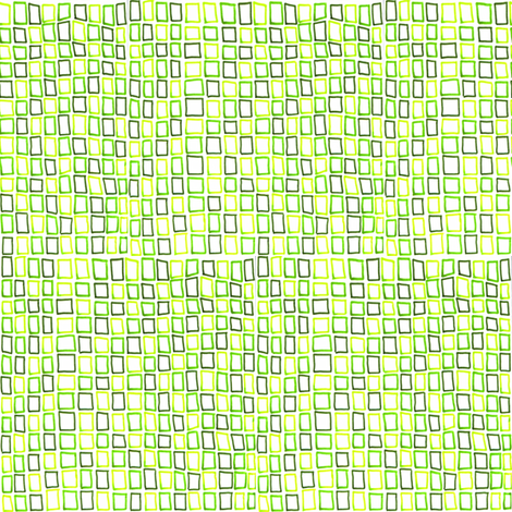 Green squares fabric by greennote on Spoonflower - custom fabric