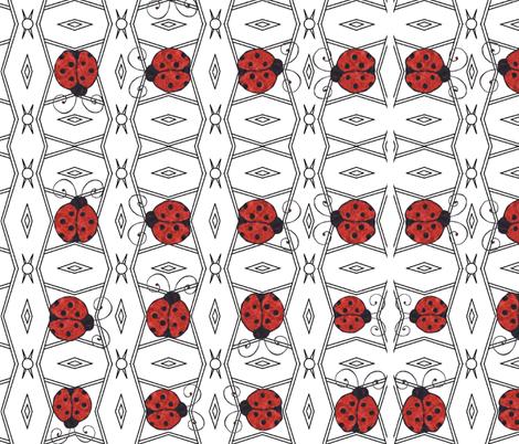 LADYBUG LACE fabric by bluevelvet on Spoonflower - custom fabric