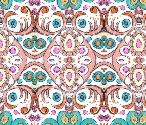 Dreamer. fabric by lesliecassidy on Spoonflower - custom fabric