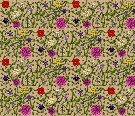 Garden of Magic fabric by modgeek on Spoonflower - custom fabric