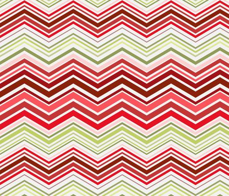 Herringbone cherry popsicle color fabric by littlerhodydesign on Spoonflower - custom fabric