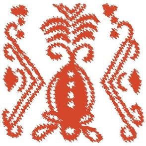 Ikat Pineapple Tangerine