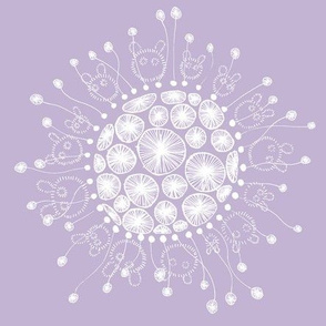 creatures: ball white/lilac