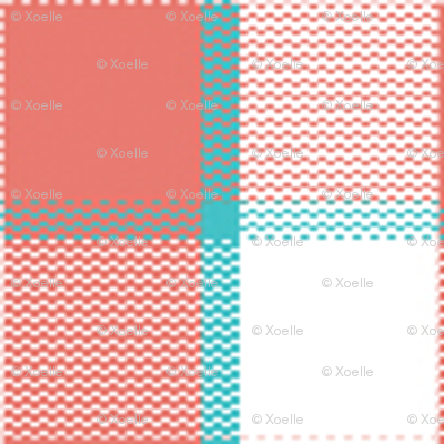 coral_teal_gingham_ish_block_for_repeating