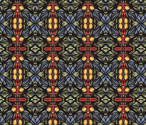 la_la fabric by kcs on Spoonflower - custom fabric