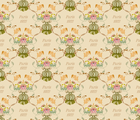 Paris_1922___ fabric by lana_gordon_rast_ on Spoonflower - custom fabric
