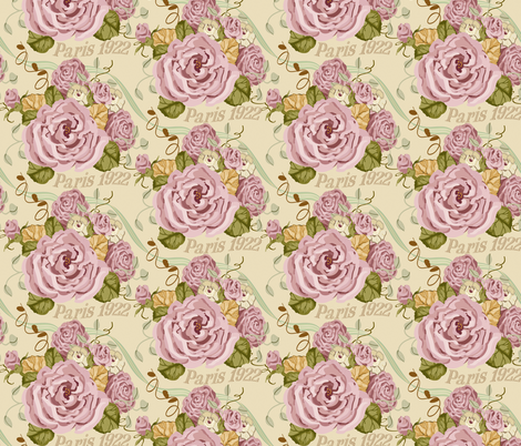 Paris 1922 Paris_Roses fabric by lana_gordon_rast_ on Spoonflower - custom fabric