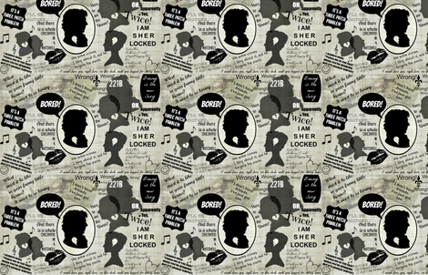 Sherlocked fabric by marchhare on Spoonflower - custom fabric