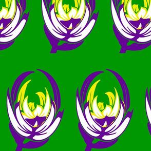 bouquet de fleur-gold purple  tulips