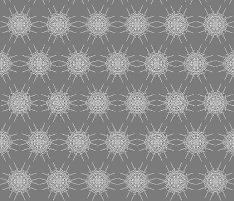 DiAtomic  Grey fabric by imagifab on Spoonflower - custom fabric