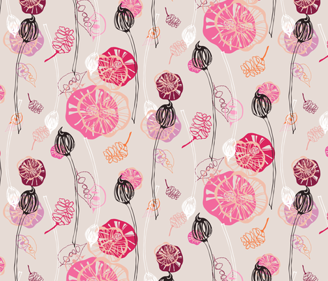 Buds and Blooms fabric by lauriebaars on Spoonflower - custom fabric