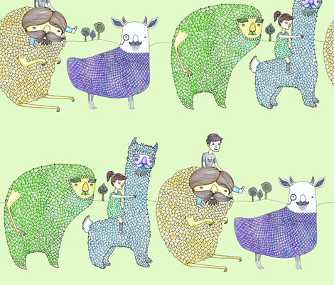 Monster Trail fabric by carrie-anne's_designs on Spoonflower - custom fabric