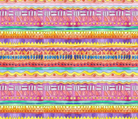 Multi Stripes, by hand fabric by wiccked on Spoonflower - custom fabric