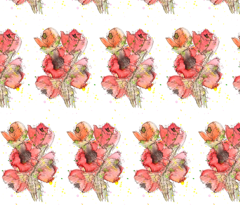 Poppies fabric by wiccked on Spoonflower - custom fabric