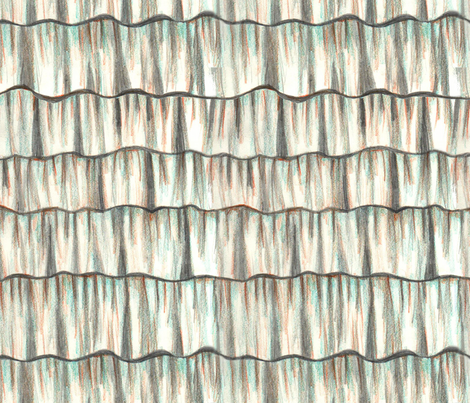 Trompe l'oeil hand drawn ruffles fabric by lucybaribeau on Spoonflower - custom fabric