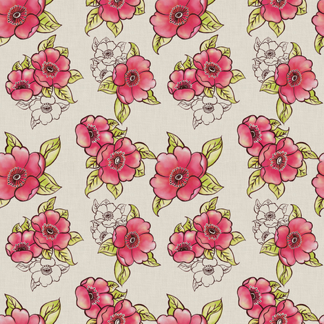Spring Blossoms fabric by theboutiquestudio on Spoonflower - custom fabric