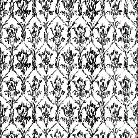 Scribble Goth - Sherlock Flock fabric by amysnotdeadyet on Spoonflower - custom fabric