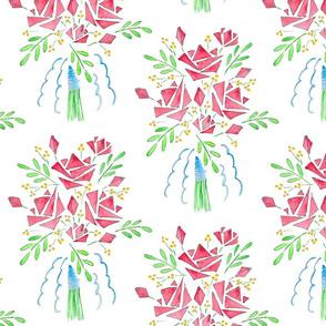 A Modish blushing bunch of roses
