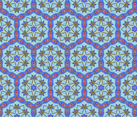 Turkish Tiles fabric by bargello_stripes on Spoonflower - custom fabric